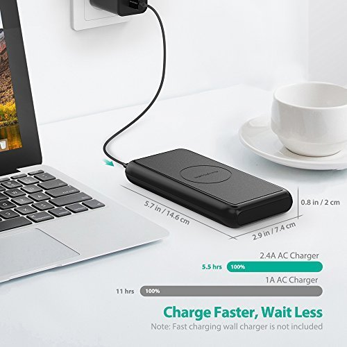 RAVPower Portable Wireless Charger 10,000mAh