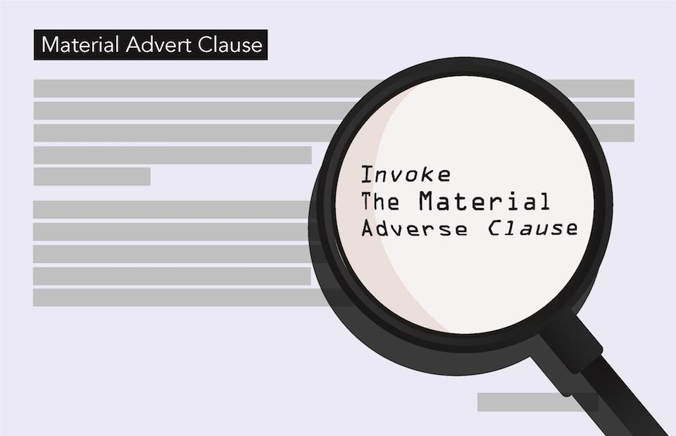material adverse clause cell contracts