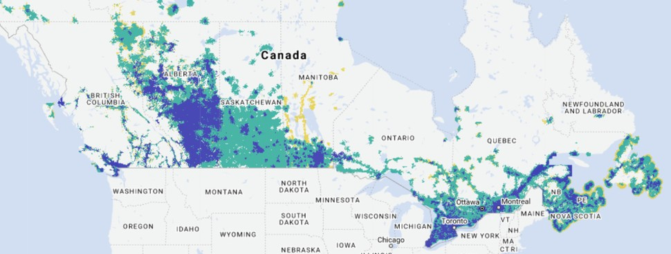 on cell phone coverage map comparison