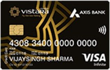 Axis Bank Vistara Infinite