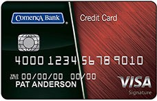 Comerica Visa Signature® College Real Rewards Card