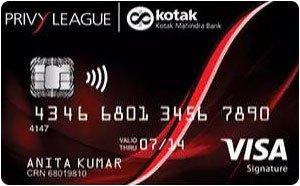 Kotak Bank Privy League Visa Signature