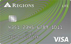 Regions Life Visa® Credit Card
