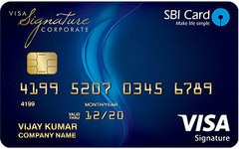 SBI Corporate Signature Card