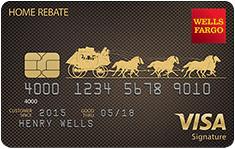 Wells Fargo Home Rebate Visa Signature Card