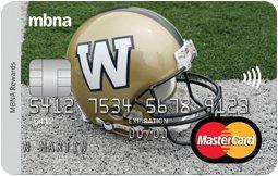 The Winnipeg Blue Bombers® MBNA Rewards Mastercard®