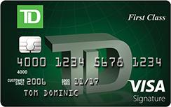 TD First Class Visa Signature Credit Card