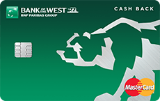 Bank of the West  Cash Back MasterCard