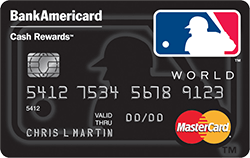 MLB BankAmericard Cash Rewards MasterCard