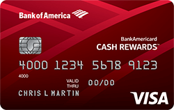 BankAmericard Cash Rewards for Students Credit Card