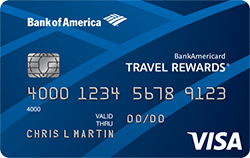 BankAmericard Travel Rewards for Students Credit Card