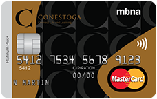 The Conestoga College Alumni MBNA Platinum Plus MasterCard