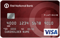 First National Bank of Omaha Platinum Edition Visa Card