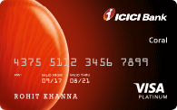 ICICI Bank Coral Against Fixed Deposit Card