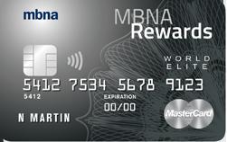 MBNA Rewards World Elite MasterCard