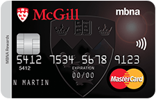 The McGill University Alumni MBNA Rewards MasterCard