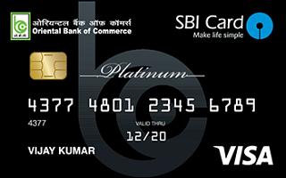 Oriental Bank of Commerce - SBI Platinum Credit Card