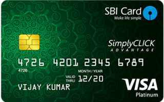 SimplyClick Advantage SBI Card