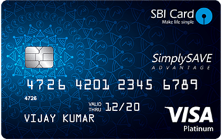 SimplySave Advantage SBI Card