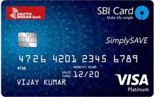 South Indian Bank Simply Save SBI Card