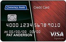 Comerica Visa Signature® College Real Rewards Card