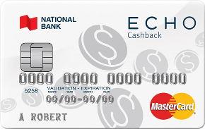 National Bank Echo Cashback Mastercard
