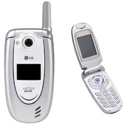 LG Flip Cell Phone Black Works Fine