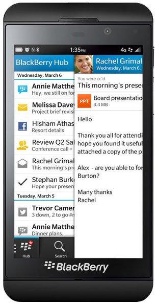 BlackBerry Z10 Reviews, Specs & Price Compare